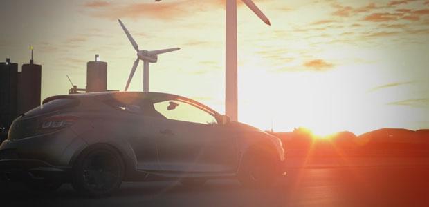 The majesty of the windfarm at sundown.