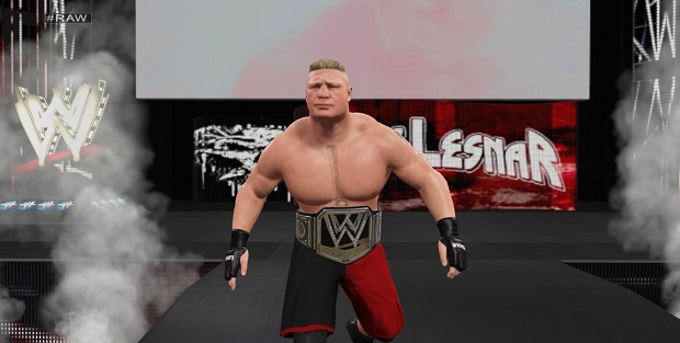 Brock Lesnar will probably hurt the person who made his digital face make that expression. Run away, that person!