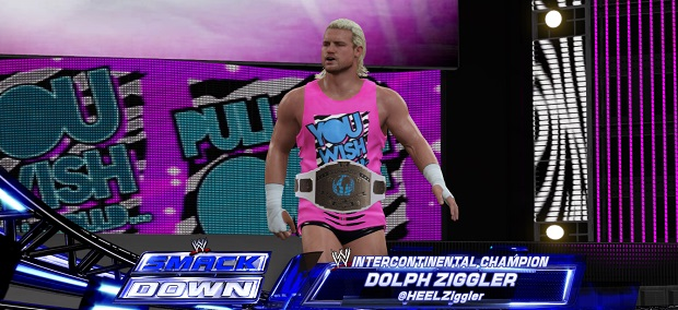 Dolph Ziggler likes to show off by wearing this big belt that has a picture of the earth on it because he believes himself to be the King of All Continents