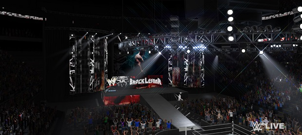 That is an arena. Brock Lesnar is about to enter the arena. He is a very large man and may not fit in the arena.