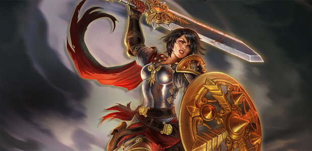 Bellona and her modestly-sized sword