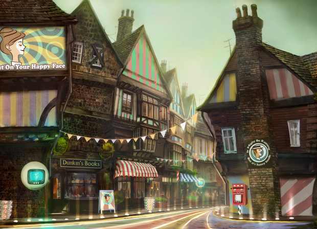 It's a sci-fi twee English village