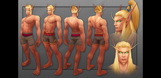 Blood elf character model