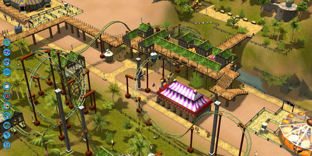 Nyoom. No, this is RollerCoaster Tycoon 3.