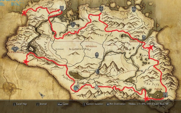 Beautiful Road Map Of Skyrim Ideas - Printable Map - New ...