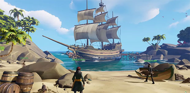 Sea Of Thieves: Multiplayer Pirate Action From Rare   Rock