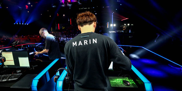 SKT's top laner Marin during the group stages
