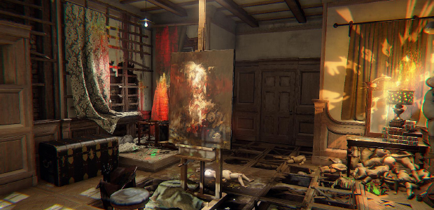 "Though you play an artist in Layers of Fear, most of the art hanging on your walls consists of a repeating number of famous paintings - perhaps the paintings that might pop up if you used the search terms ""weirdest renaissance art"". But, eyerolls at the emo curation aside, some of the pieces are really very interesting indeed. Take Rembrandt's Abduction of Ganymede, for instance (which, okay, in art terms is technically Baroque, but it comes at the very end of the larger social Renaissance that spanned the 14th and 17th centuries). It's a peculiar piece about the politically charged myth in which Zeus falls in love with Ganymede, a dashing young shepherd and most beautiful of all mortals. As is Zeus's rapey wont, he tansforms himself into an eagle, and carries Ganymede off to Olympus, where he makes him his cup-bearer. Other services may be inferred - indeed, it was commonly used as an emblem for ancient Greek pederasty and its social acceptance. The likes of Xenophon and Socrates may have asserted that Zeus loved Ganymede for his mind, but homoeroticism has nonetheless clung to the myth. And, for much of the Renaissance, this not-entirely-consenting relationship was presented with little apparent criticism: paintings presented Ganymede as unresisting, indeed, he is ascending to godliness. Zeus does make him immortal after all, so what's to complain about?"
