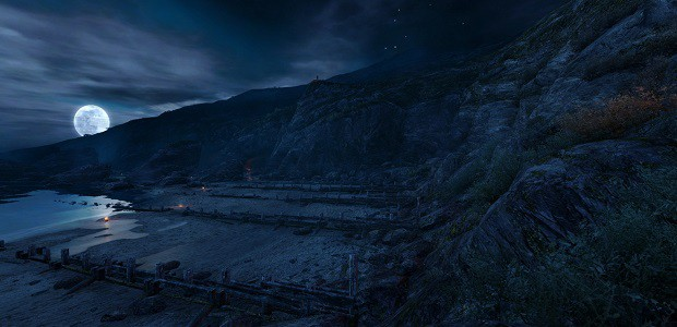 screenshot of Dear Esther in which it is quite dark