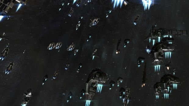 A fleet en route to a fight