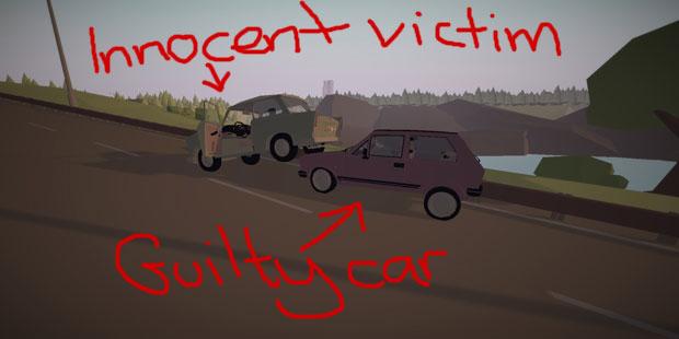 Little Car Crash In Driving Simulator