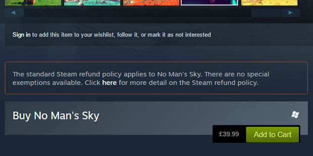 No mans sky no special exemptions for steam refunds rock paper the policy also notes there are more details below but even if you fall outside of the refund rules weve described you can ask for a refund anyway and ccuart Choice Image