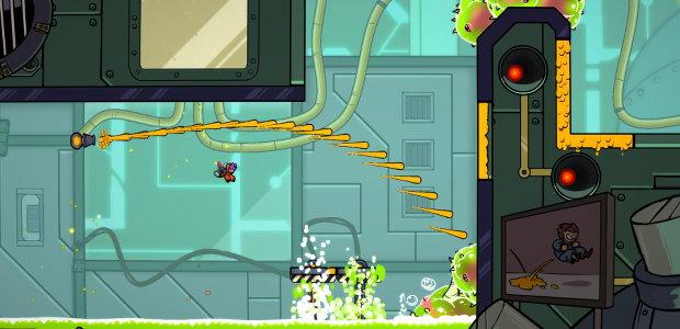 Super Meat Boy meets Portal 2 in Splasher