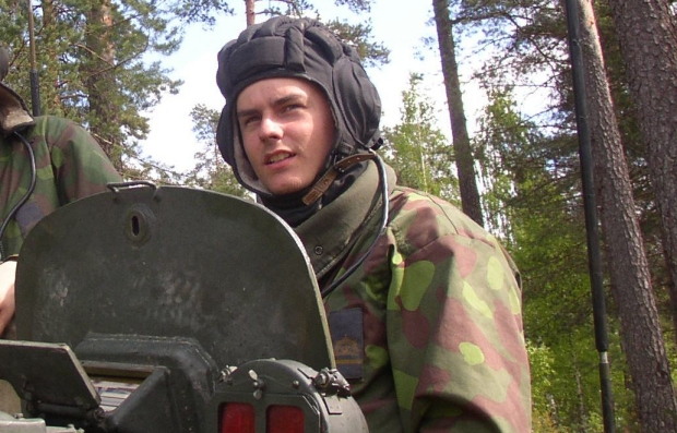 """As a young cadet on a BMP-2 gunner's seat (2004)"""