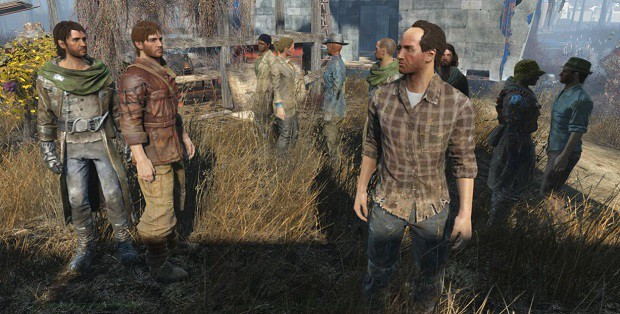 how to fix settlers standing around in fallout 4