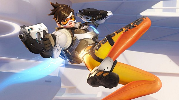Tracer, one of Overwatch's 23 gay characters.