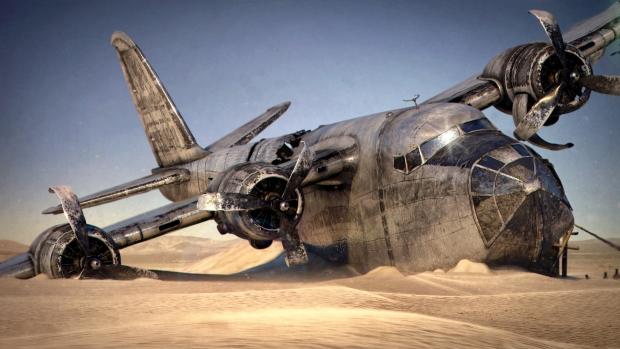 Plane Desert Wreck 04 by TiagoPorto