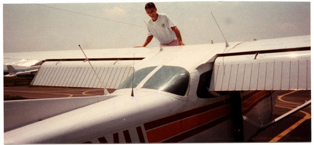 """Early 1990s - first learning to fly at Quantico Marine Corp Air Station, Virginia"""