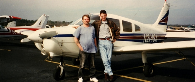 """1997 me as a Flight Instructor with a student. Accumulated around 1,000 hours in that Warrior"""