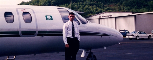 """Late 1997, picked up by a corporate operator TPT Aviation. This photo after a scary landing at Elk River Airport in North Carolina."""