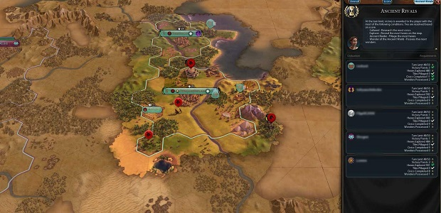 Civ 6 multiplayer: new challenges in strong scenarios