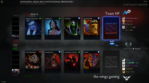Dota 2 drafting phase