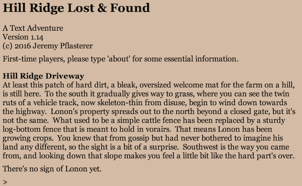 Screenshot for Hill Ridge Lost and Found