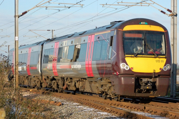 Class 170 in CrossCountry livery, departing Cambridge (Andrew Butcher)