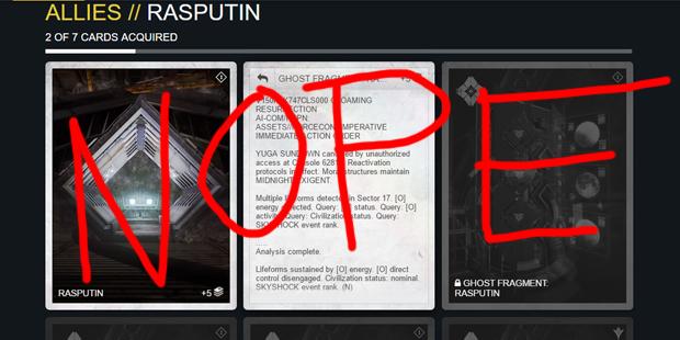 Rasputin is a warmind.