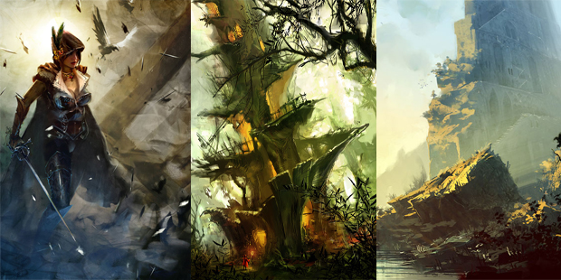 Horia Dociu various concept art for Guild Wars 2