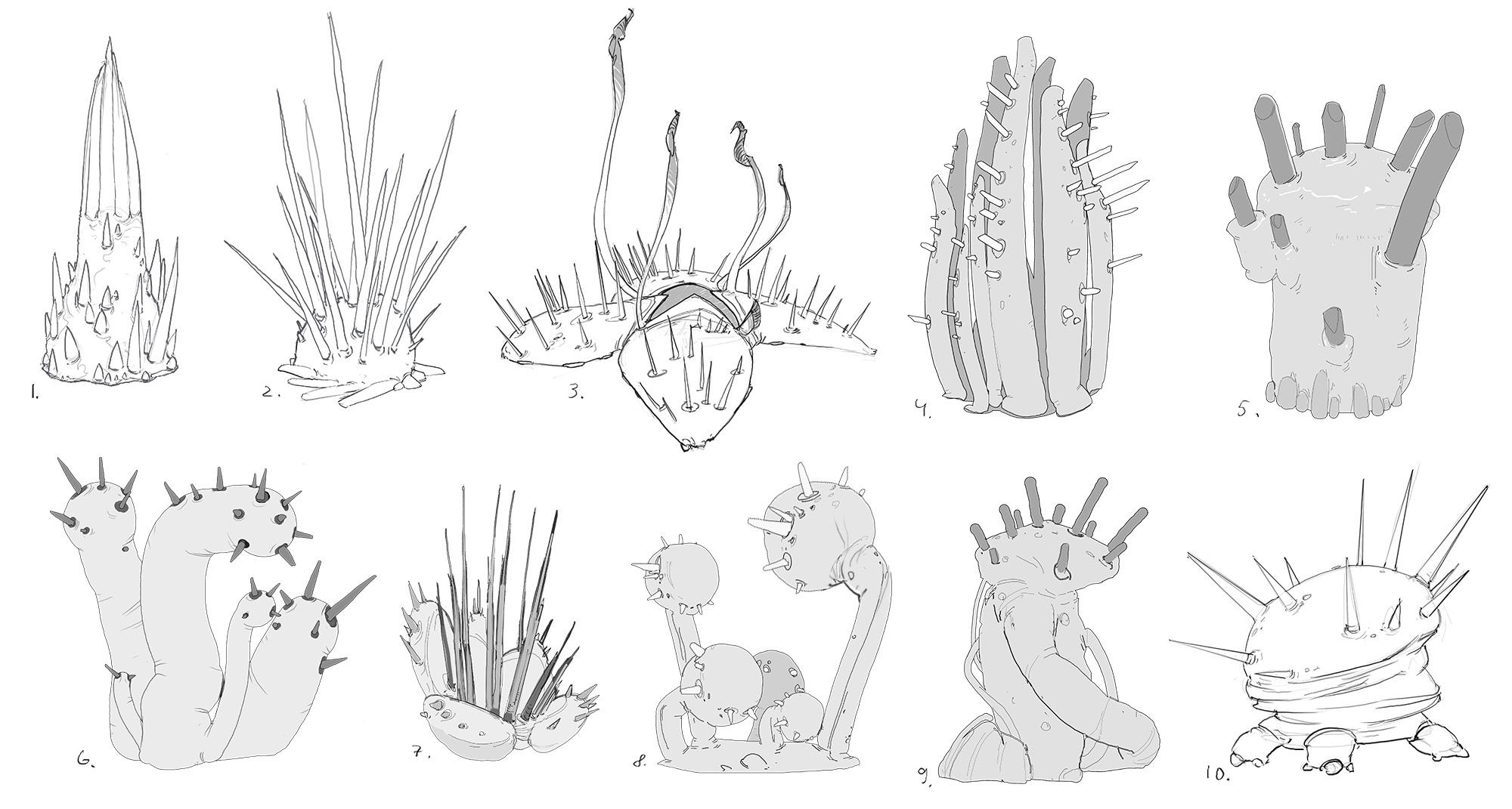 Concept Art Alien Plants