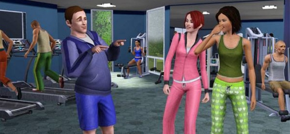Here's some Sims. In a gym.