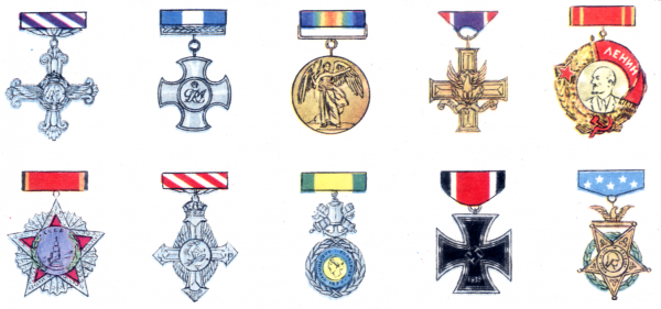 My Great Uncle Alf was a very brave and versatile soldier. Identify his multinational medal haul and you could win 9 gold FP points and 1 iron one.