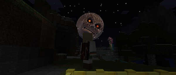 That's no moon. Texture packs can be scary too!