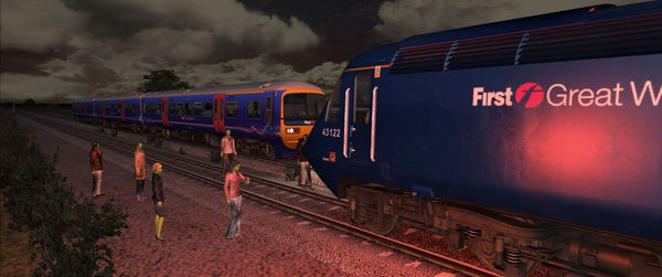 I recognise that train's logo from my real life and that makes the imminence of a poorly animated zombie invasion seem all the more real!