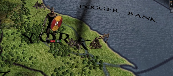 Dogger Bank and a man with a sword, proving that Crusader Kings II is actually a very British action game