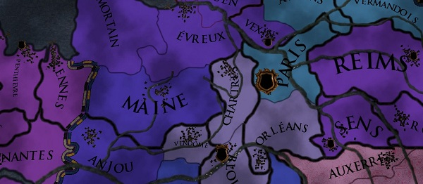 France is somewhat purple and complex to conquer