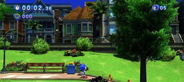 In this level, Sonic goes door-to-door selling insurance