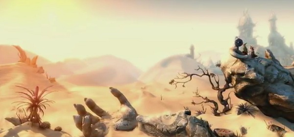A still of a desert with a better sense of scale than entire games set in deserts