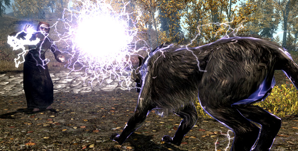 Ha! Eat lightning, just like your cousins, Small Forest Wolf, Elder Wolf, Greater Elder Wolf, Reanimated Ghost Wolf, Demon Wolf and Sheep Who Chose The Wrong ****ing Day To Get Clever!