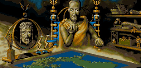 Yes, it's Populous II, but, man, these guys used to give me the creeps