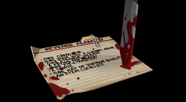 "The blood splats also spell out ""Tobor"""
