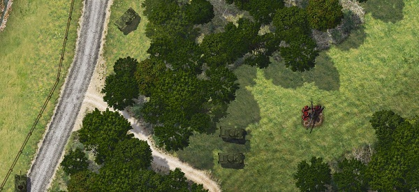 A forestry planning simulator, with tanks