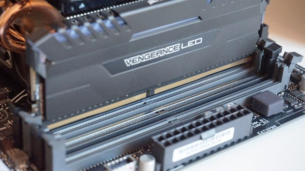 Each stick of RAM has two connectors - make sure they line up properly with the shape in each slot.