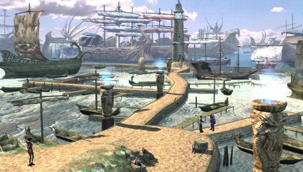 Arcadian docks.