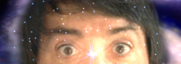 Staring eyes - of genius, madness, or just lens flare?
