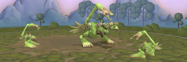 This is my favourite Spore Creature, despite being hyper-simple. He looks perpetually worried. I need to care for him.