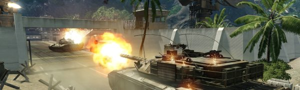 The Crysis Videogame Features Splenditudiral Polygonal Images Of Tanks.